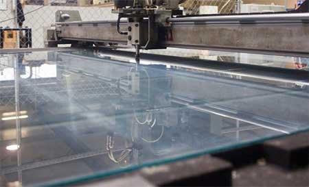 High precision custom glass cutting
