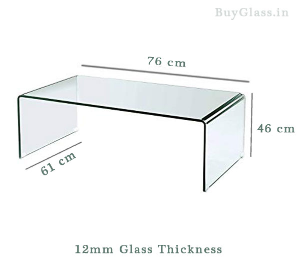 12 MM bent Curved Glass table
