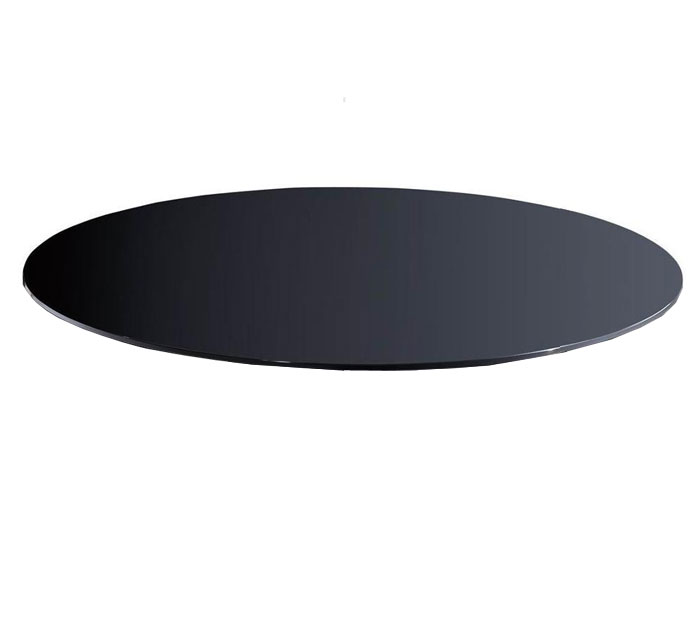 Buy 42x72 Inches Oval Grey glass 10 mm thickness