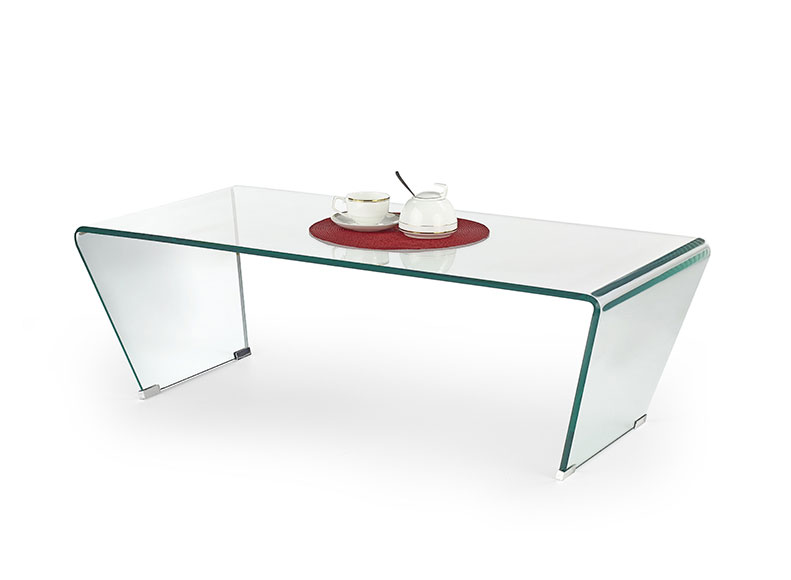 Buy Vogue Angled Glass Coffee Table (Clear Glass) L 120cm