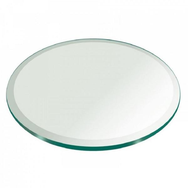 Buy Round Clear Glass Beveled polished edge - 8 mm thickness