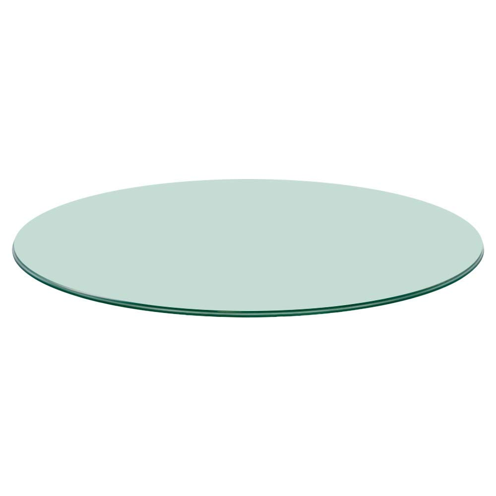 Buy Clear Circular Glass for coffee / tea table top 12 mm thickness Pencil polished edge
