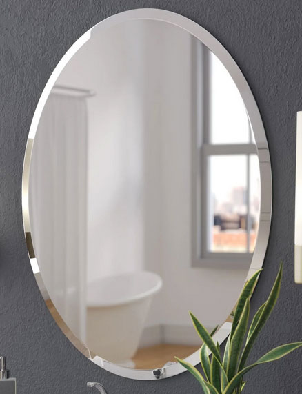 Buy Oval Shape Mirror with Beveled edge (06mm thickness)