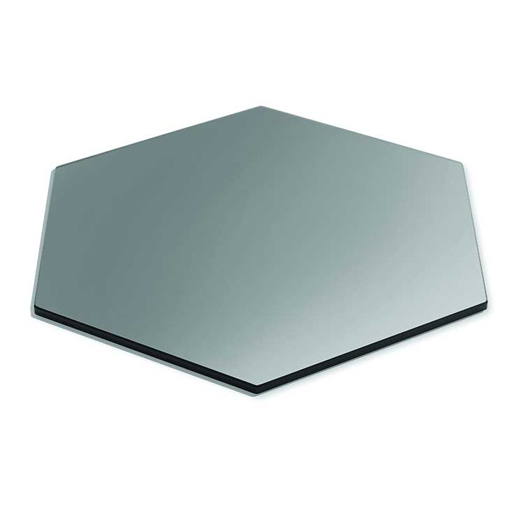 Buy Hexagon Grey Tinted Toughened Glass Table top 12mm thickness