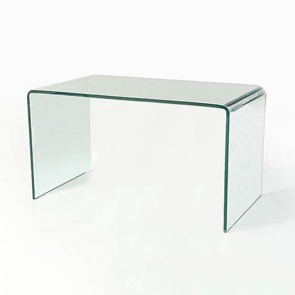 Buy Vogue Curved Bent Glass Desk - L198, 19 mm thick clear glass