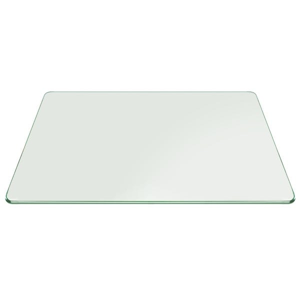 Buy 6 mm Rectangle table top tempered clear glass - Pencil polished edges