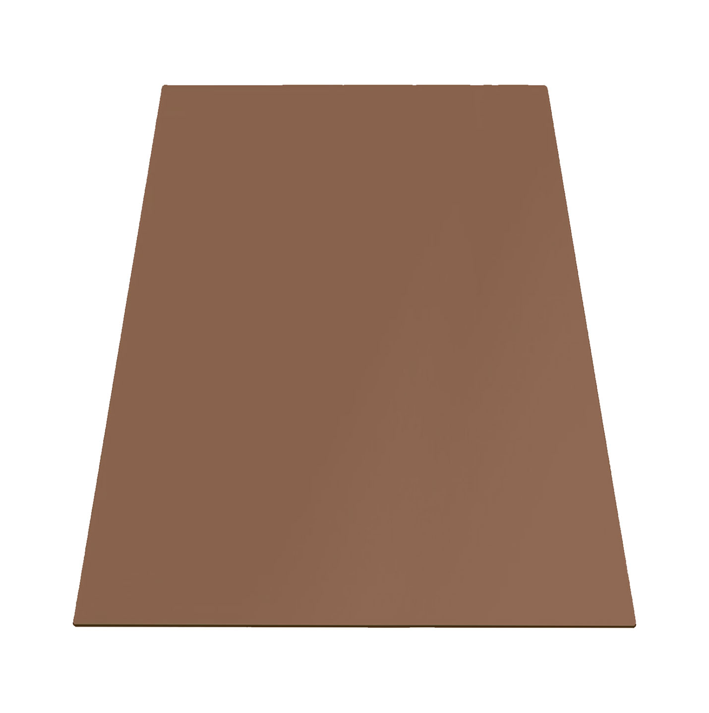Buy 10 mm Rectangle Table Top Tempered Bronze Tinted Glass - Flat polished edges & Eased corner