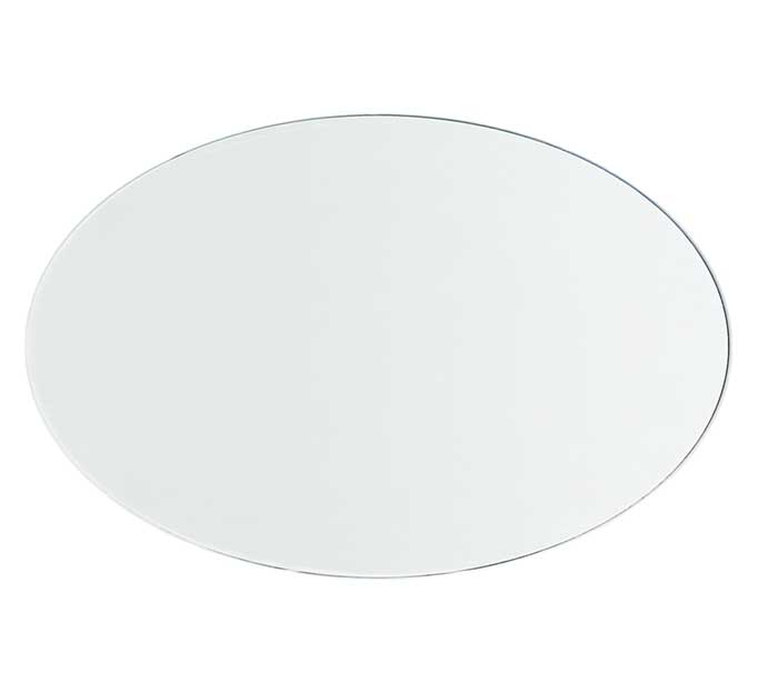 Buy 8 mm Oval (Elliptical) Clear Glass Table Top with Flat Polished edge