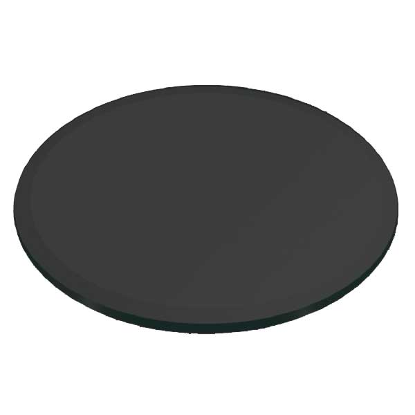 Buy 8 mm thick Round / Circular Glass Beveled Edge Tempered Table top Glass - Grey tinted