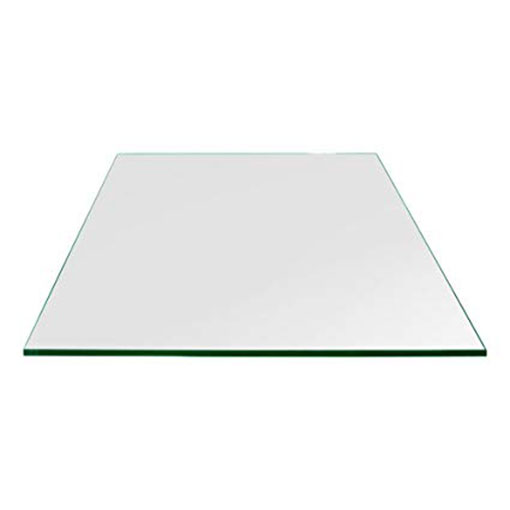 Buy 10mm thick Table Top Square Clear Glass Tempered Flat Edges