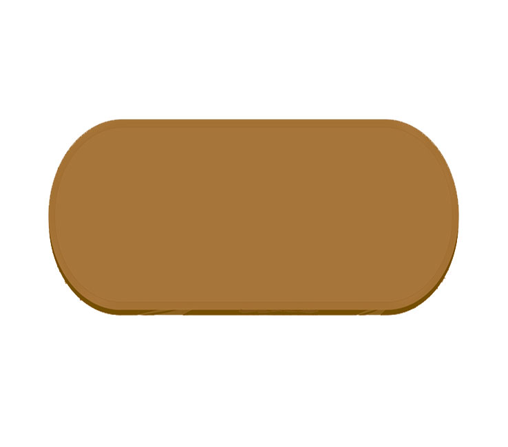 Buy Racetrack Oval Bronze Tint Glass - 12mm thickness