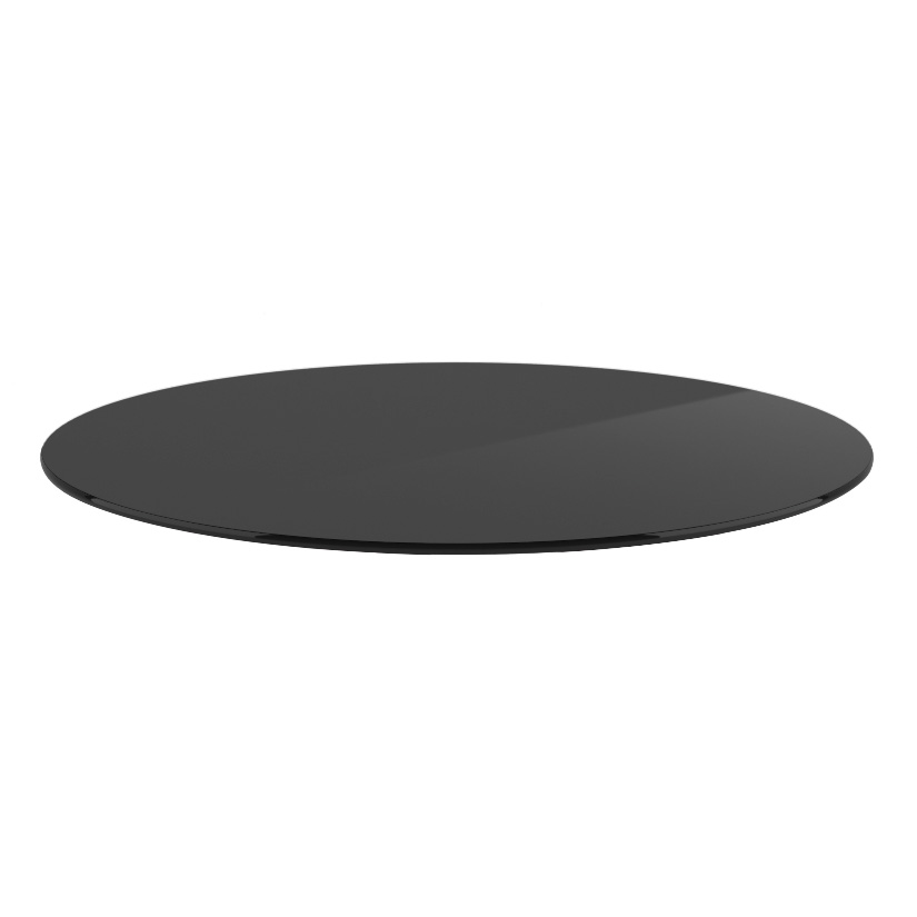 Buy Round Grey tinted Glass Pencil polished edge - 8 mm thickness Table top glass
