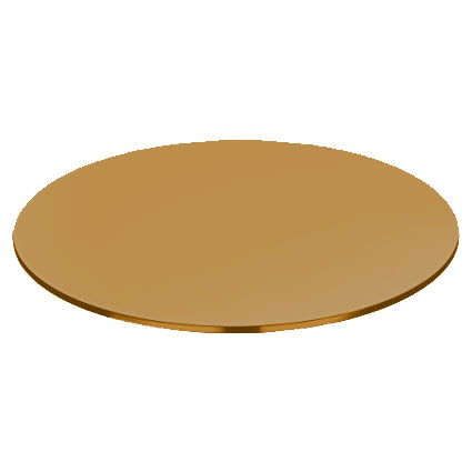 Buy Round Bronze tinted Glass Pencil polished edge - 8 mm thickness Table top glass