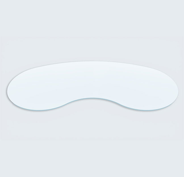 Buy Bean (Kidney) Shaped Glass table - 12 mm thickness Table top glass