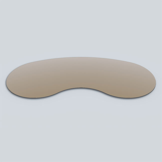 Buy Bean (Kidney) Shaped Glass table - 12 mm thickness Table top glass (Bronze Glass)