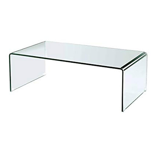 Buy Vogue Bent Glass Coffee Table 12 mm thickness 91x61x46 cm