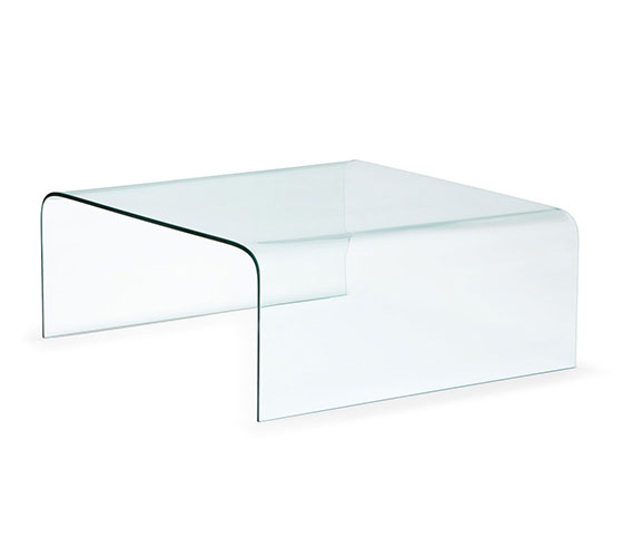 Buy Vogue Bent Glass Square Coffee Table 19 mm thickness 61x61x46 cm