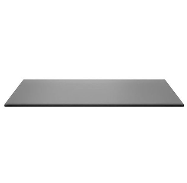Buy 24x48 Inches Rectangle Grey Glass 10 mm for Table Top