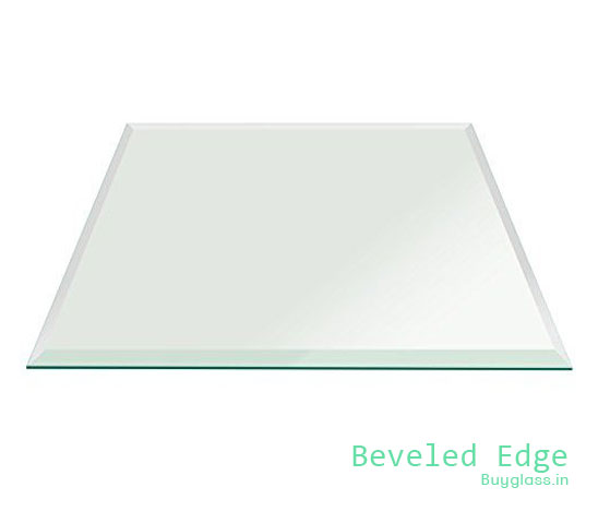 Buy Rectangle Clear Glass 12 mm for Table Top  - Beveled Polished Edge