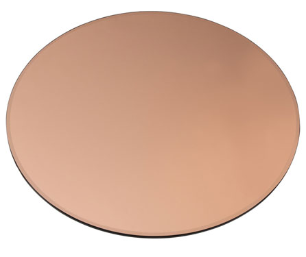 Buy Oval Bronze glass 12 mm thickness  - Beveled Polished Edge
