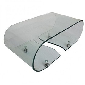Buy Vogue Bent Glass Coffee Table (Clear Glass) L 89cm