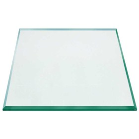 Buy Table Top Square Clear Glass Tempered Beveled Polished Edges - 12mm thickness