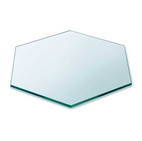 Buy Hexagon Clear Toughened Glass Table top 10mm thickness