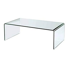 Buy Vogue Bent Glass Coffee Table 12 mm thickness 61x46x46 cm