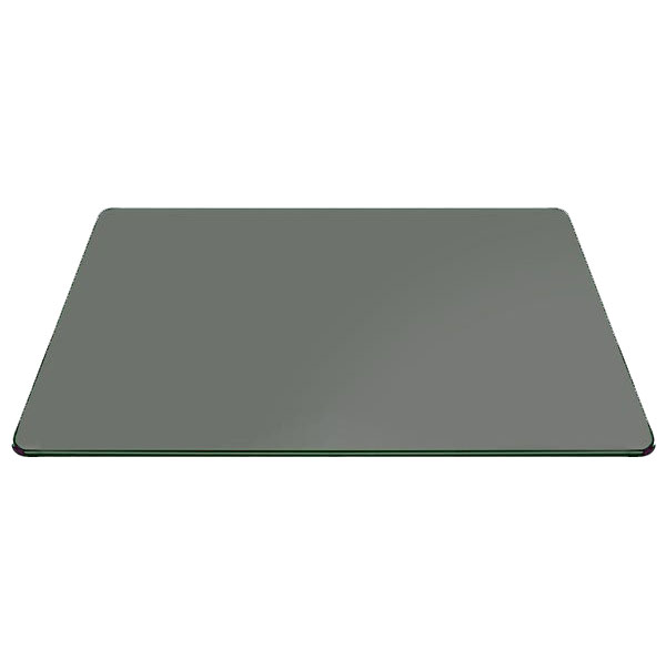 Buy Rectangle Grey Glass 12 mm for Table Top  - Pencil Polished Edge